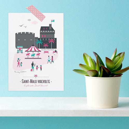 Carte postale | Saint-Malo virevolte