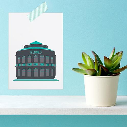 Carte postale Rennes   Opéra