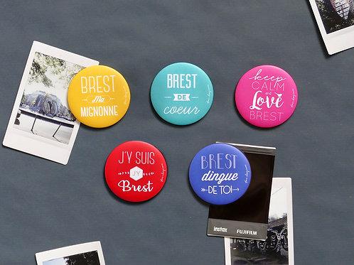 Magnets | Set de 5 | Love Brest