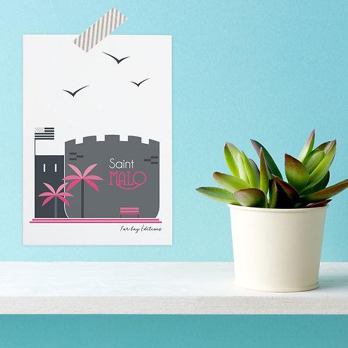 Carte postale Saint-Malo | Tour des Moulins