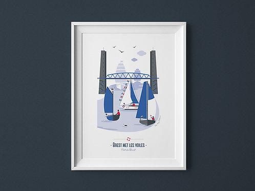Affiche | Brest met les voiles