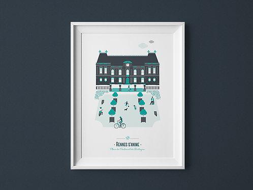 Affiche | Rennes Parlement | Vert