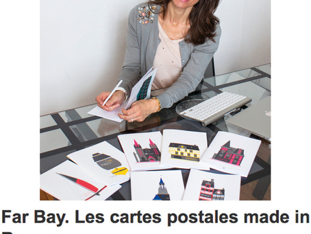 """Ouest France : """"Far bay, les cartes postales made in Rennes"""""""