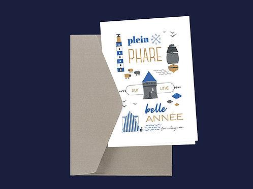 Carte de vœux | Plein phare sur une belle année