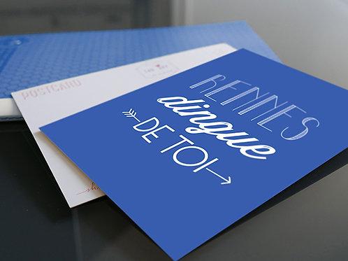 Carte postale | Rennes Dingue de Toi