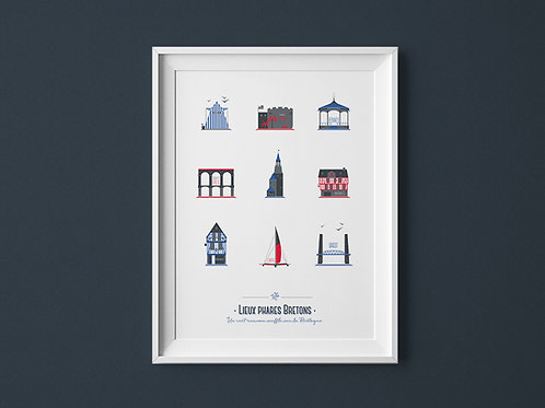Affiche | Lieux Phares Bretons