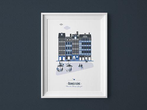 Affiche | Rennes Champ Jacquet | Bleu