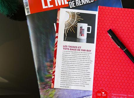 Le Mensuel de Rennes: les tasses et totebags de Far bay