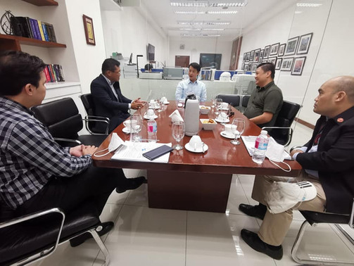 Sept.15, 2020 Courtesy Visit to Sen.Gatchalian and Nissan Test Drive with Mr.Najima, NPI President and Mr.Edmund Araga, eVAP President #goEV