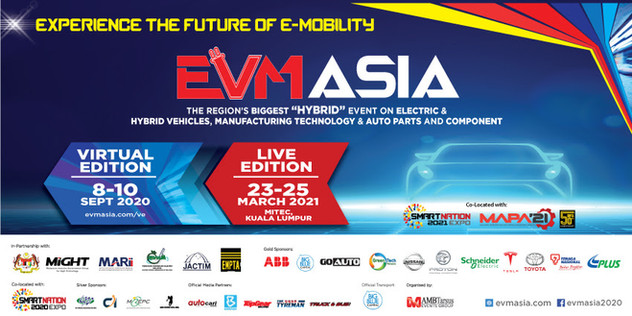 MARII INVITES YOU TO REGISTER FOR FREE AT EVM ASIA 2020 – THE REGION'S 1st ELECTRIC/HYBRID VEHICLES, E-MOBILITY, AUTO PARTS & SMART MANUFACTURING VIRTUAL EXPO.  The Malaysian Automotive, Robotics, and IoT Institute (MARII) invites you to attend EVM ASIA 2020 – The Region's 1st Electric/Hybrid Vehicles, E-Mobility, Auto Parts & Smart Manufacturing Virtual Expo which will be held from 8-10 September 2020 (10.00 am to 5.00 pm). Join thousands of professionals at this landmark event showcasing the latest EV & Hybrid Vehicles, Auto Parts, Components, Charging Systems, And Manufacturing 4.0 Major exhibitors include Toyota, Proton, Nissan, Tesla, Higer, Big Blue, Agri Pacific, EVOC (Electric Vehicles Of Club), Nano Malaysia, EVAM (Electric Vehicles Association of Malaysia), and Sendok Group. Thank you