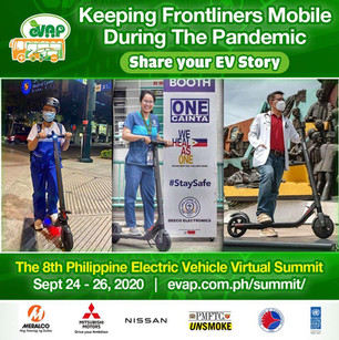 During the pandemic, with public transportation unavailable, frontliners had no means to travel to work and continue their battle with COVID-19. With the help of Segway Philippines, our brave medical frontliners were provided a means to get to work, electric scooters! EV technology continues to change how we live and adapt, learn more at The 8th Philippine Electric Vehicle Virtual Summit, Sept 24 - 26, 2020 Register now: evap.com.ph/summit/ FREE ADMISSION!