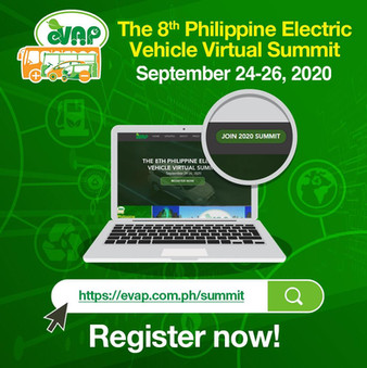 The Philippine Electric Vehicle summit is going VIRTUAL! For the summit's 8th year, we're giving you the opportunity to join the event in the comfort of your own homes! Register Now: www.evap.com.ph/summit ✍🏻 The event is ABSOLUTELY FREE!