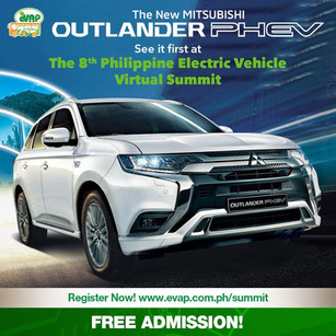 The award-winning Mitsubishi Outlander Phev is coming to the Philippines! See it first at the 8th Philippine Electric Vehicle Virtual Summit on Sept 24 - 26. 2020 ✅  Register here: http://evap.com.ph/summit   FREE ADMISSION!