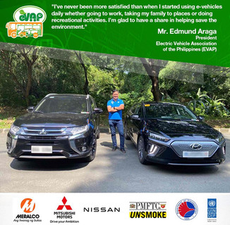 For the very first SHARE YOUR EV STORY, Electric Vehicle Association of the Philippines (eVAP) President, Mr. Edmund Araga, shares one of the key reasons why he pursued becoming the leader of our organization, his appreciation for e-vehicles.  Send in your own EV story now and we might just feature it! Email us at secretariat@evap.com.ph ✅  Register FREE now for the 8th Philippine Electric Vehicle Summit to learn more about the benefit of EVs: evap.com.ph/summit