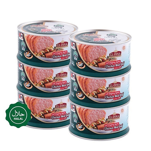 Bundle of 6 EL-Dina Meat Loaf Halal