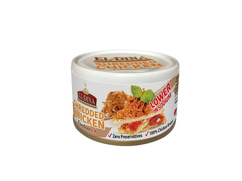 El-Dina Shredded Chicken 85g Halal - Mayo, Peri Peri, Spring Water, Tandoori