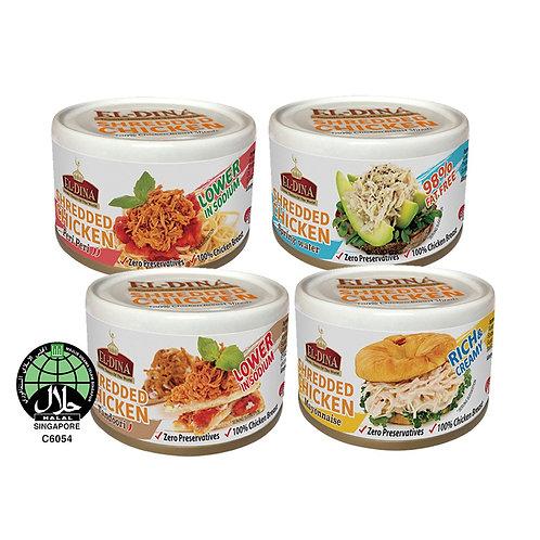 Bundle of 4 El-Dina Shredded Chicken Halal