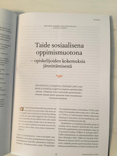 Artikkeli yhteistyöstä YTHS:n kanssa Kuorolaulu kouraan -projektissa