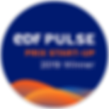 Badge EDF Pulse Start-up Awards 2019 Win