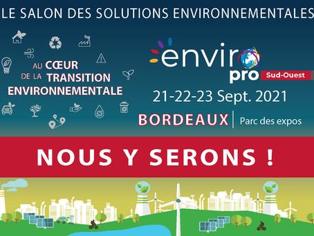 Retrouvez SAUREA au Salon Enviro Pro à Bordeaux !