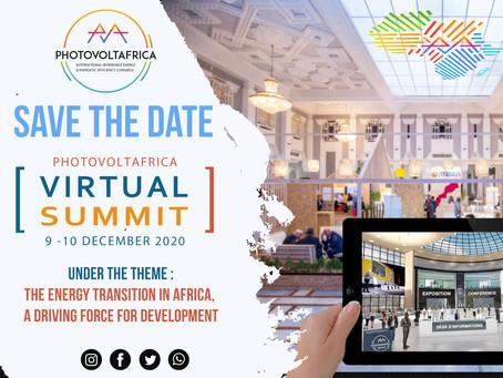 Participation à PHOTOVOLTAFRICA 2020, les 9 & 10 Décembre 2020
