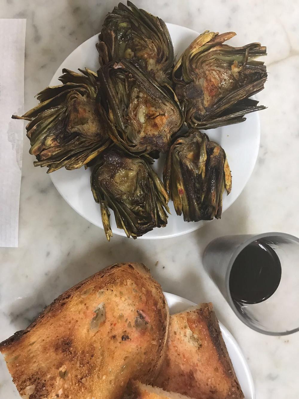 My Foodie Friend Barcelona La Cova Fumada Fried artichokes