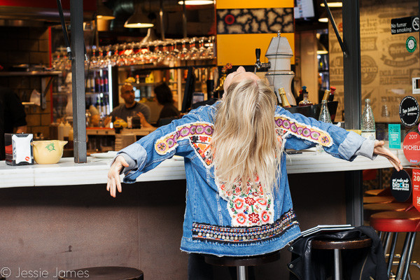 My Foodie Friend Barcelona Lolita's Taperia Blogger at Bar