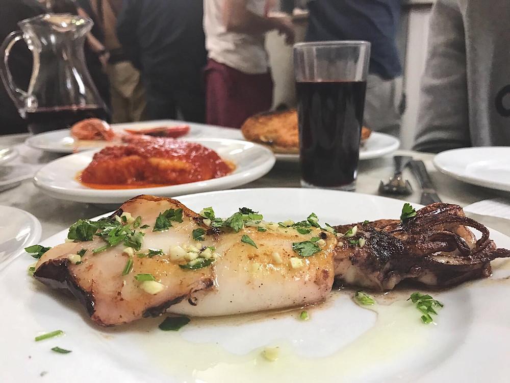 My Foodie Friend Barcelona La Cova Fumada Squid