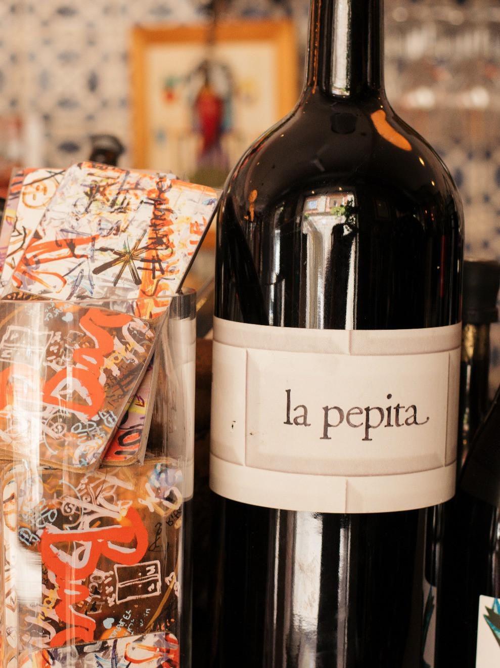 my foodie friend barcelona la pepita wine bottle