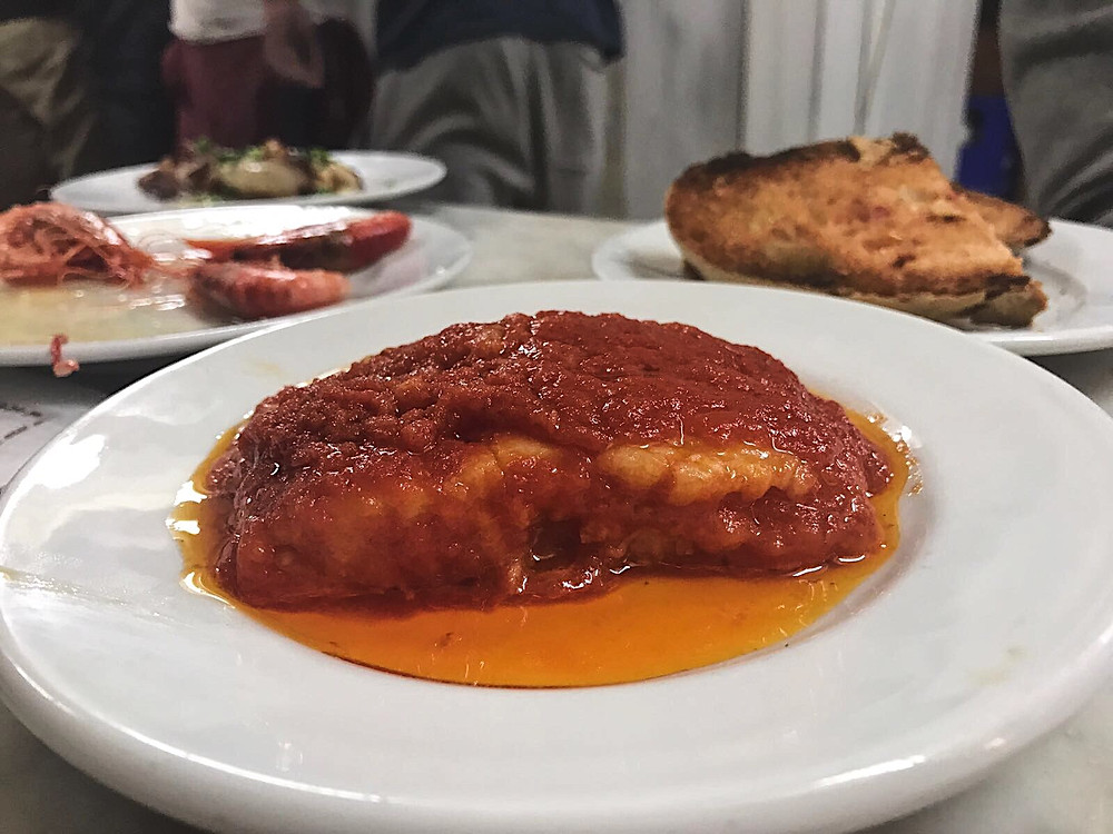 My Foodie Friend Barcelona La Cova Fumada Cod in Tomato Sauce