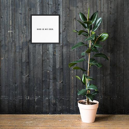 God Is My CEO® Wall Art
