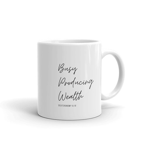 Busy Building Wealth Mug - Style 1