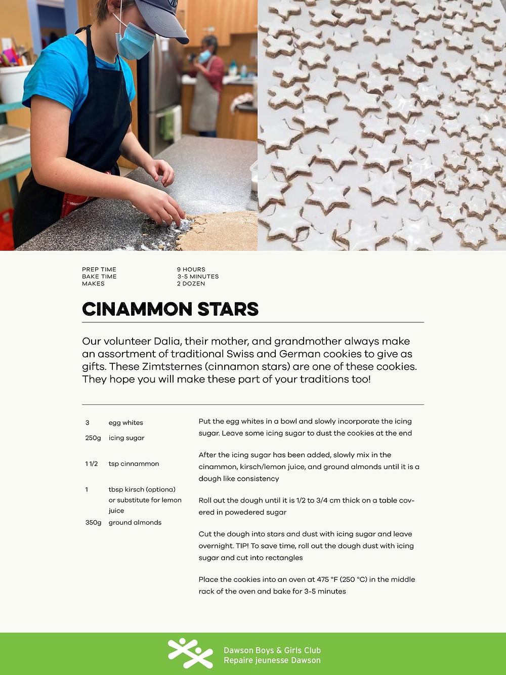Cinnamon stars cookie recipe