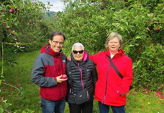 Seniors apple picking