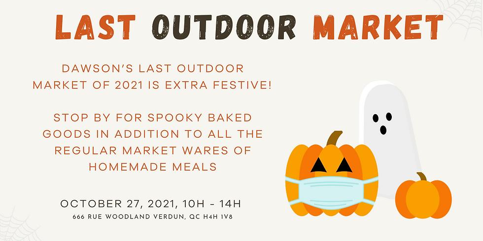 Halloween Bake Sale + Last Outdoor Market