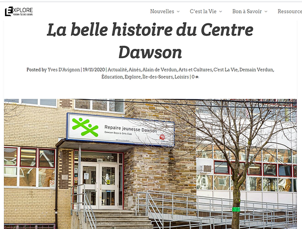 Online news article about Dawson Boys and Girls Club's history