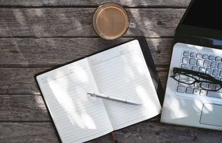 caderno de anotação