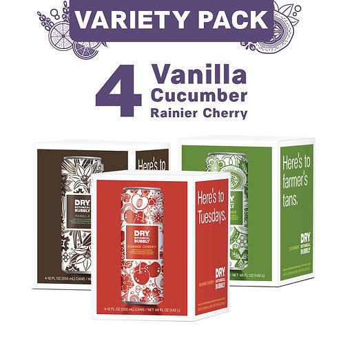 Can Variety Pack (Rainier Cherry, Vanilla, Cucumber)
