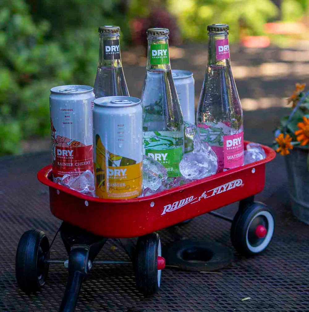 DRY Sparkling in Red Wagon