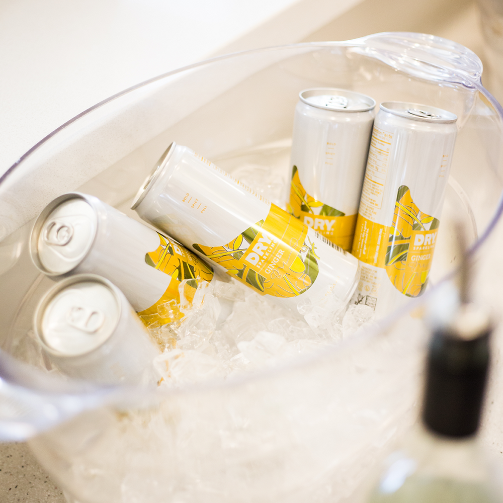 Ginger DRY Sparkling Cans