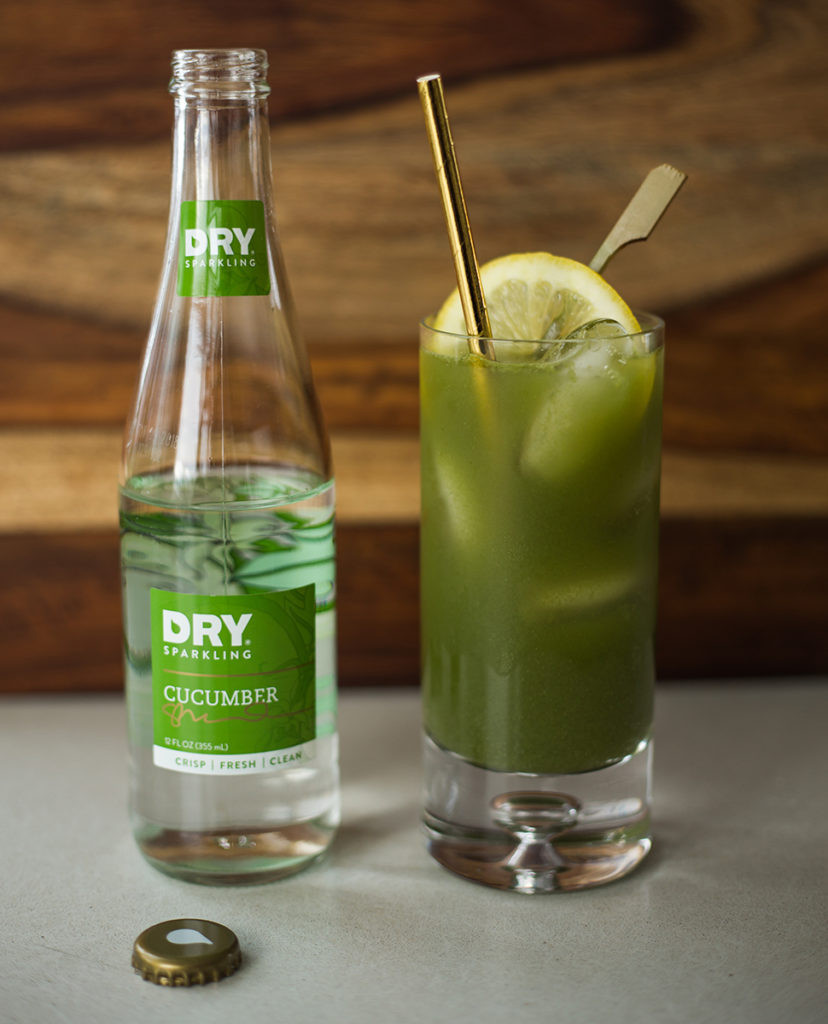 mocktail, green juice, dry sparkling, dry soda