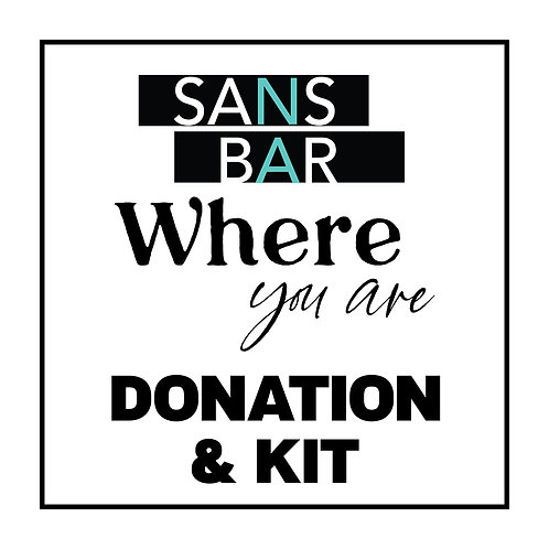 Sans Bar Where You Are Donation with Kit