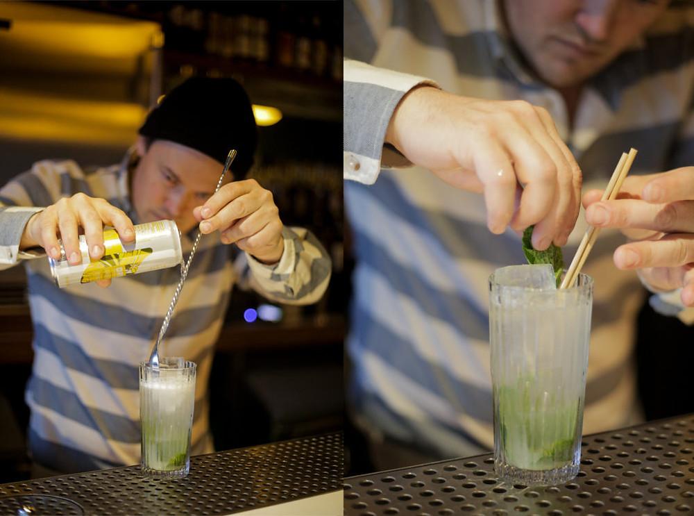 Making a Ginger Lime Mule Mocktail