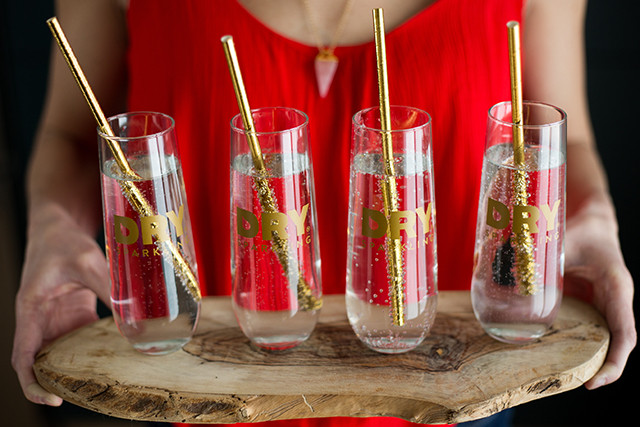 Galentine's Party, champagne flutes, mocktail