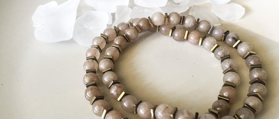 Taupe Dyed Jade Bracelet