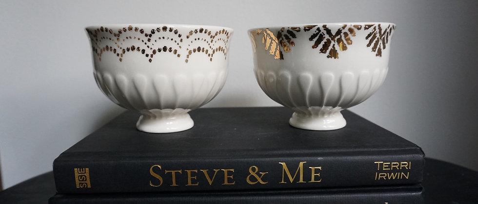 Vintage Gold Leaf Bowls