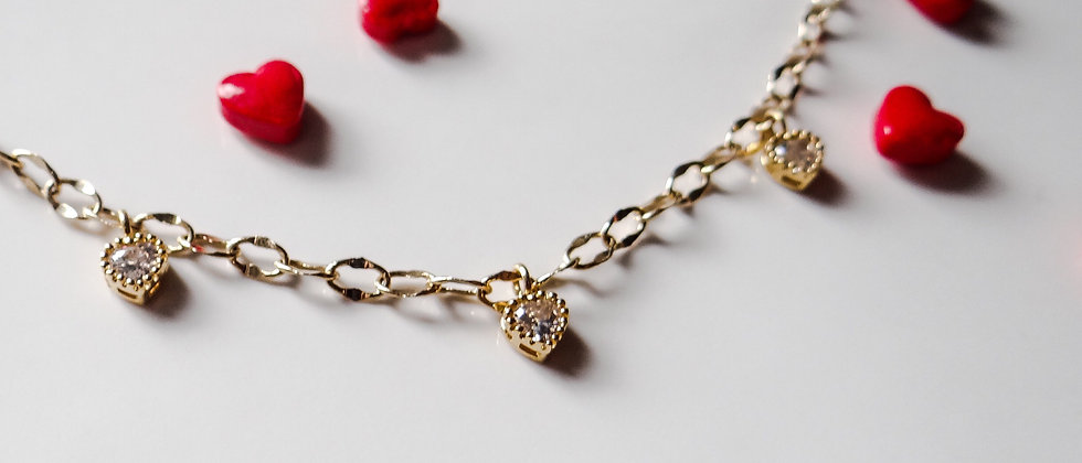 AVA Floating Heart Necklace