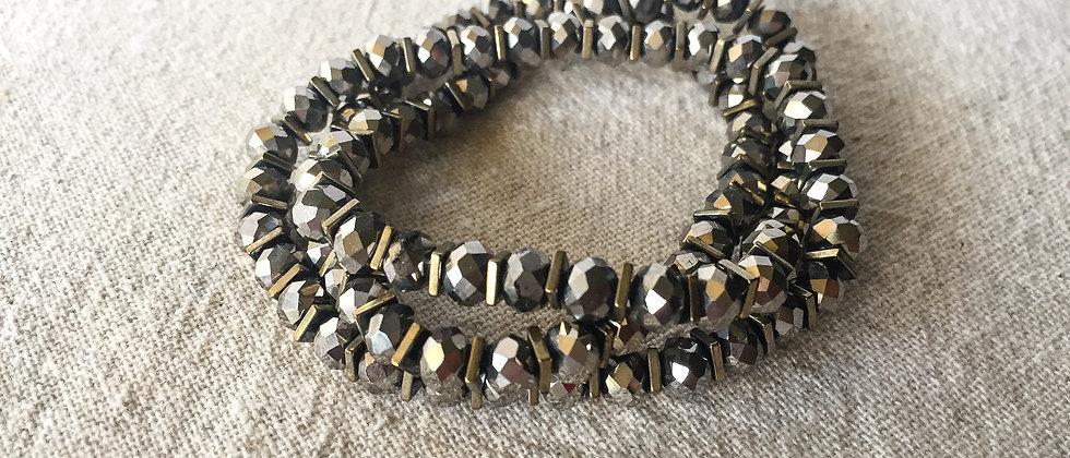 Two Tone Hematite Bracelet