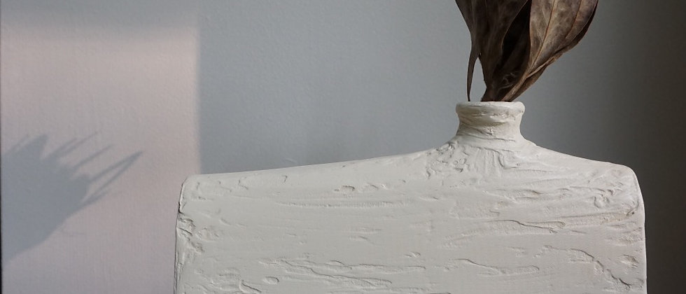 Cream Textured Vase