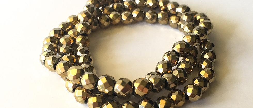 Bronze Hematite Bracelet